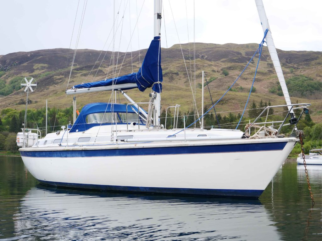 Westerly Corsair 36 at mooring