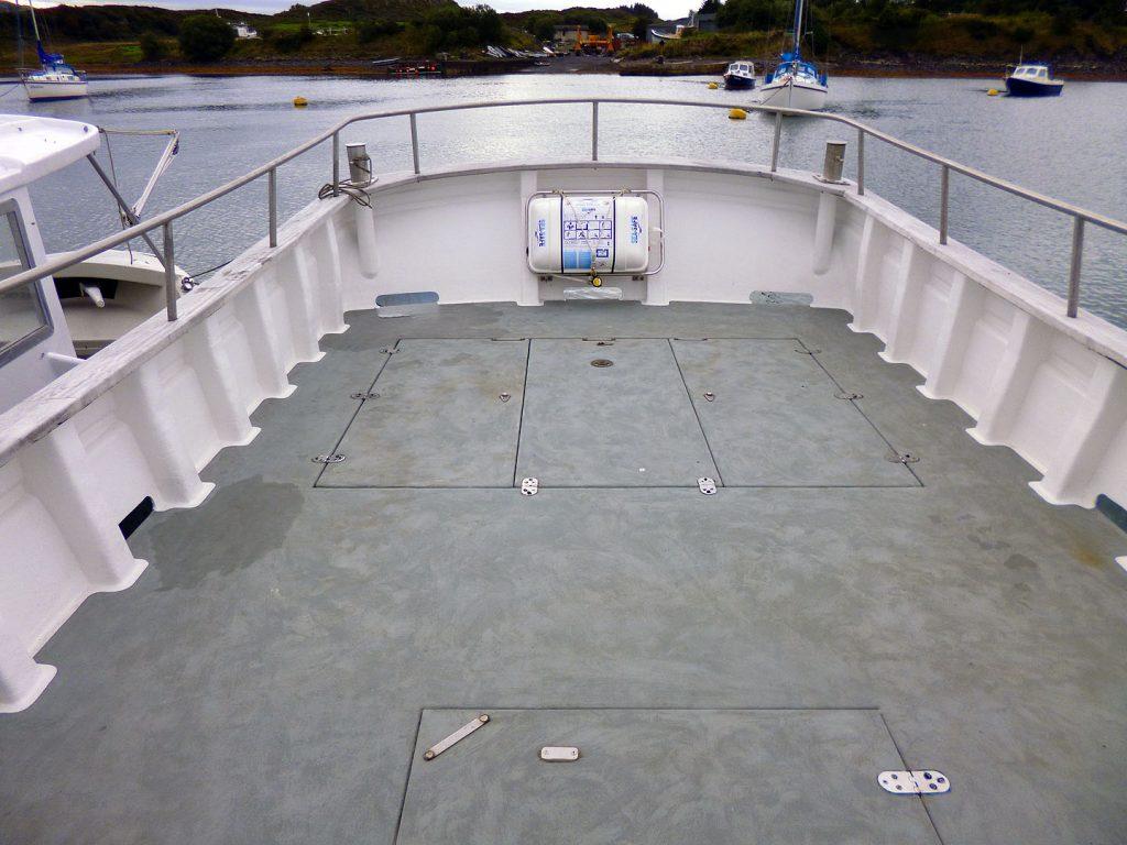 Lochin 38 working deck.