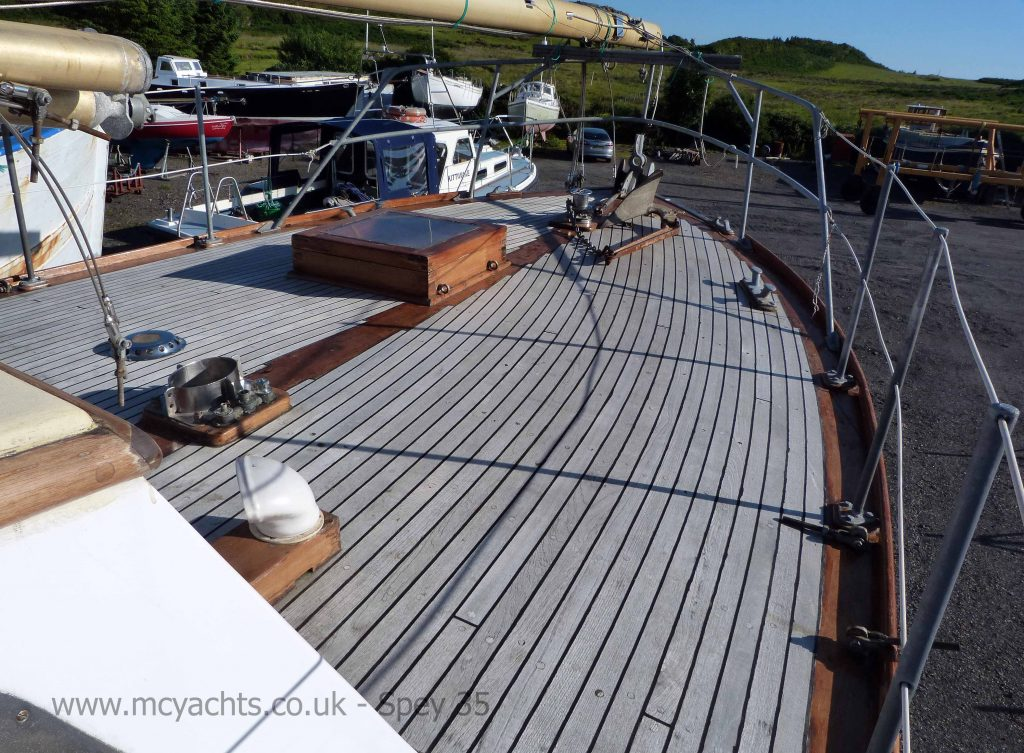 Jones of Buckie Spey 35 Foredeck