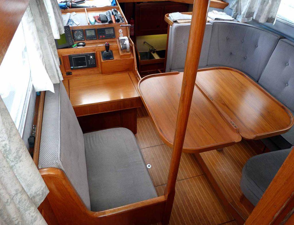 Cromarty 36 Deck saloon