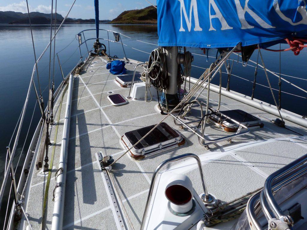 Nautor 43 on deck