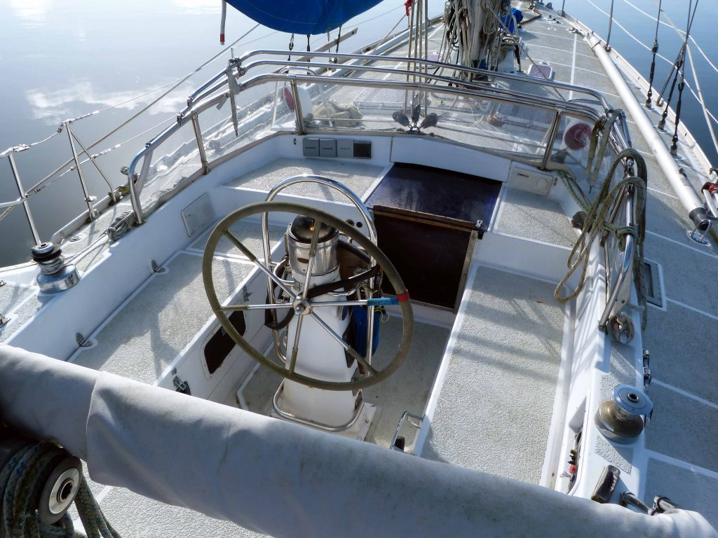 Nautor 43 cockpit