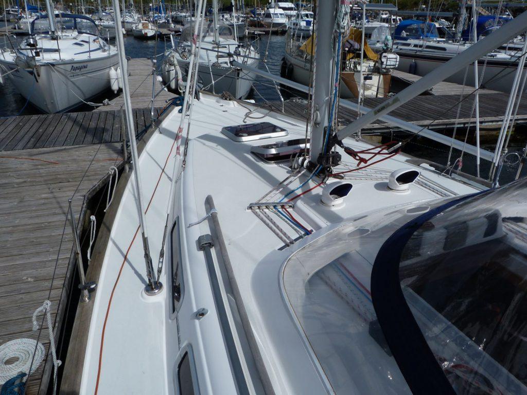 Moody 36 On deck