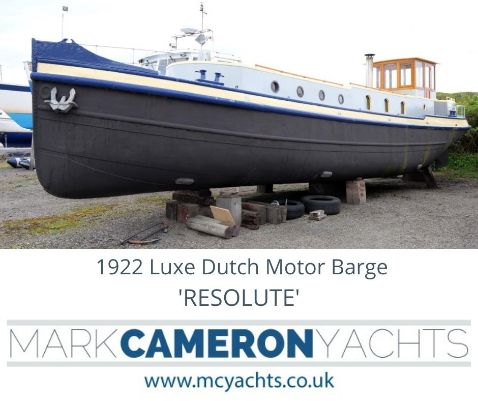 Dutch barge conversion for sale