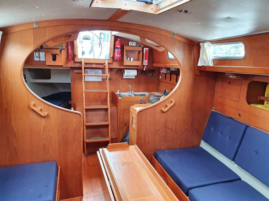 Below decks Rival yachts